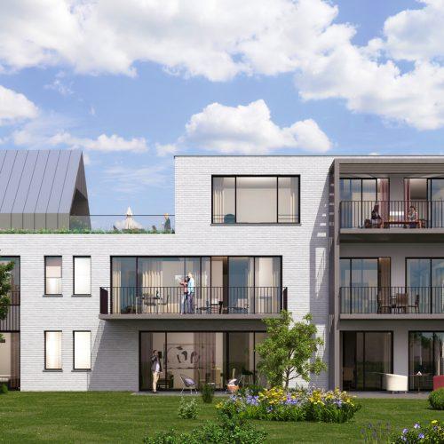 ésidence Astéria rue Groeselenberg, villa de 5 appartements , architecte Marc Corbiau