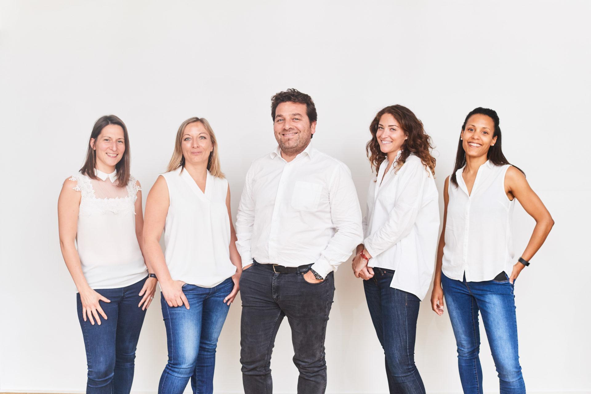 team e-maprod, Ségolène Vuillaume, Laura Cneuvels, Stéphane Benaym, Melissa Simba et Anouk Hirschfeld