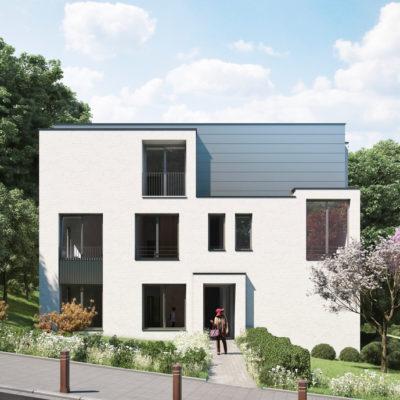 Résidence Astéria rue Groeselenberg, villa de 5 appartements , architecte Marc Corbiau