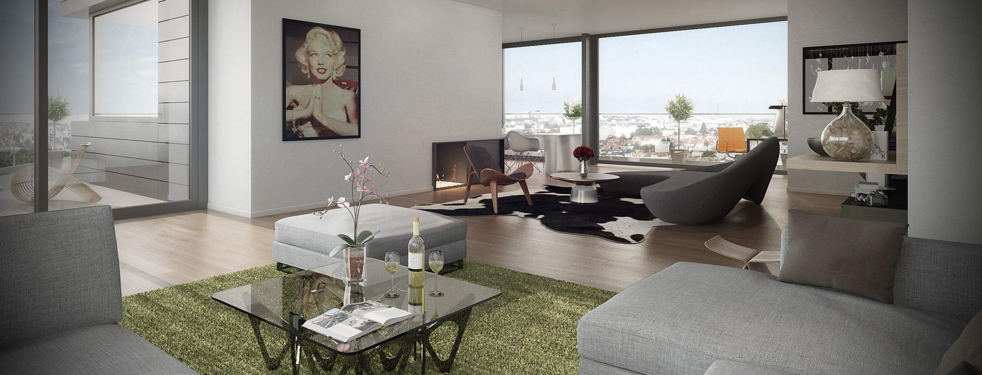 Louise 430, appartement de prestige, architecte Marc Corbiau