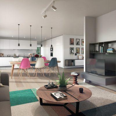 Queen 1839, rue souveraine, Penthouse, architecte Marc Corbiau, appartement témoin
